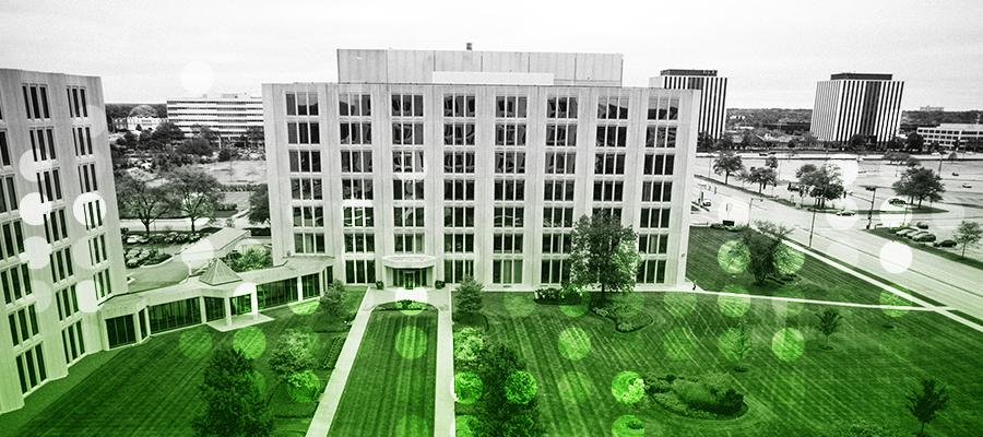Millennium Trust building where the grass is greener