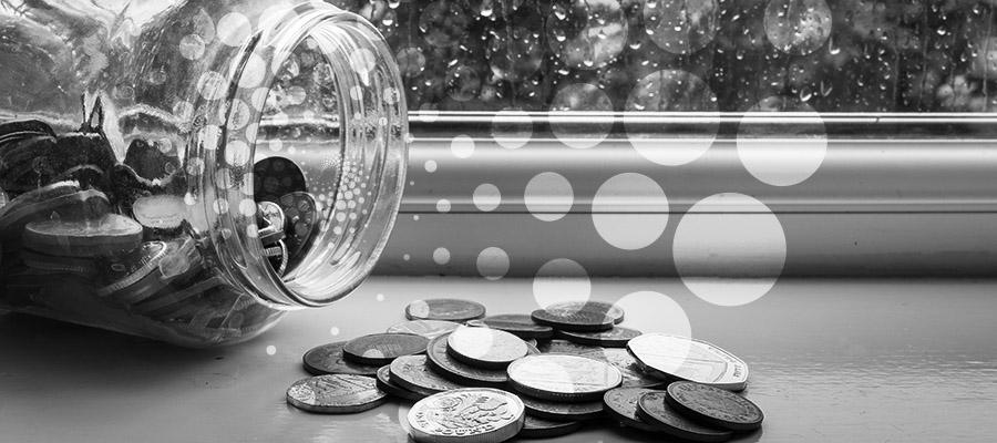 Jar of emergency savings